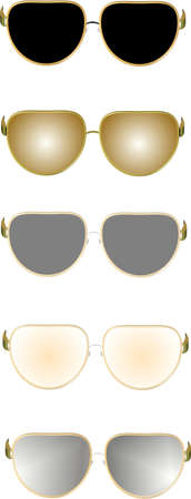 sunglasses in 3d on white