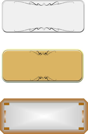 gold metal: metal name plates