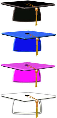 mortar boards in colors Stock Photo - 9484831
