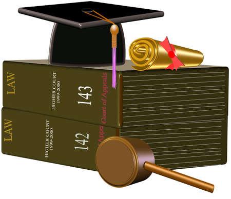 law grad illustration Stock Illustration - 9484833