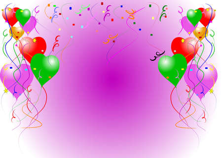 cut and paste: balloon card background