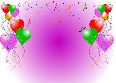balloon card background Stock Photo - 9484838