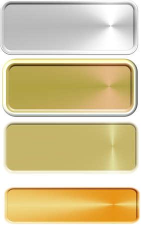 copper name plates on white