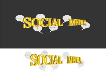 social outcast: social media chat icons on white and black