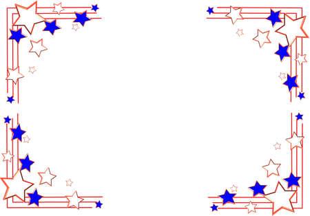 grens voor de vakantie van de VS Stock Illustratie