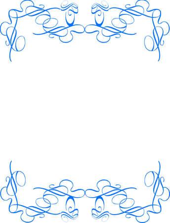 スワール: 青白ベクトルで二重レベル旋回フレーム