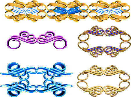 ornate 3d elements for frames and borders Stock Photo - 9740103
