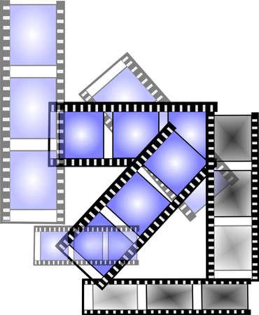 nite: movie nite on white film strips