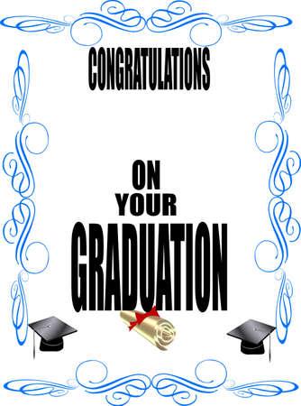 formal grad dclaration on white