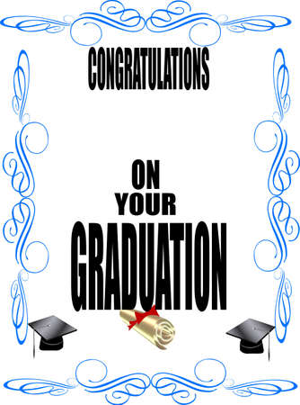 formal grad dclaration on white Stock Vector - 9716809