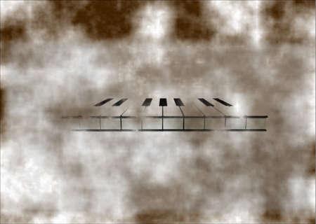 style: vanishing piano grunge style