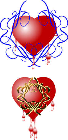 entwined: hearts entwined with scrolls