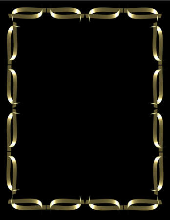 gold foil frame on balck