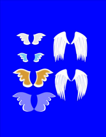 assortment of angel wings  Vector