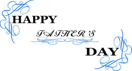 happy fathers day  greeting  Ilustracja