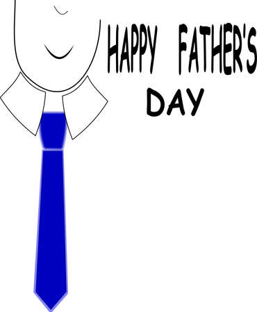 happy fathers day greeting on white Stock Vector - 9823500