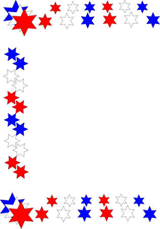 july 4th frame on white Stock Vector - 9823490