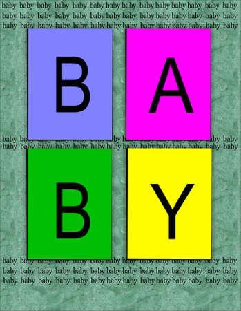 Baby patroon voor Geboortekaartjes Stockfoto - 9823508