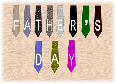 fathers day ties on plywood background