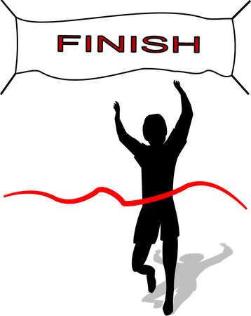 winnaar in het leven en race