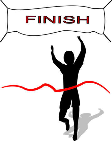 finishing: winner in life and race