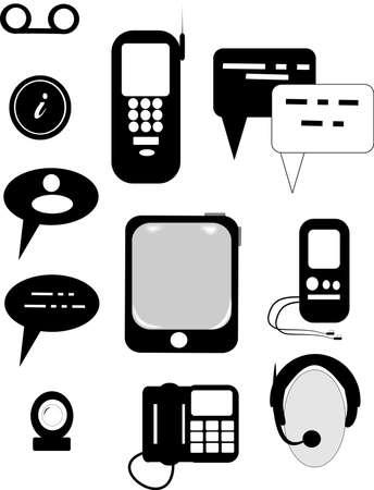 multimedia icons: communications icons