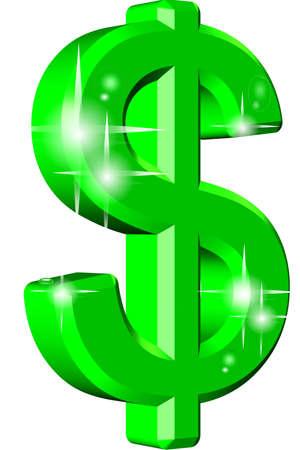 allmighty dollar in 3d  photo