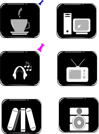 icons black series on white