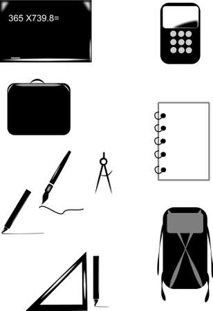 back to school icons on white