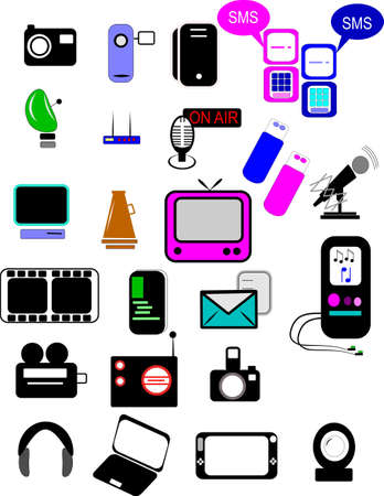 assorted communication icons Vector