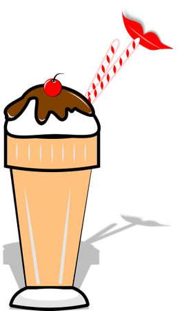 frieren: alte altmodischen Malz-shake
