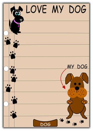 love my dog background