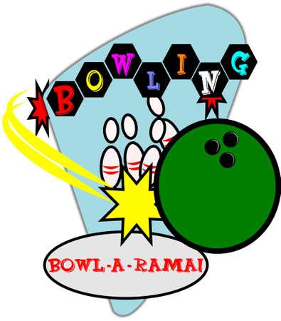 レトロ: レトロ ボウリングの図