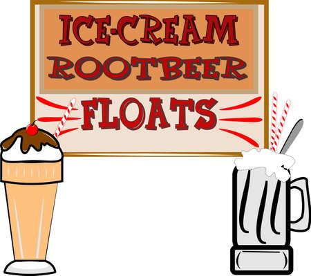 Ilustración de flotador de cerveza de raíz retro Ilustración de vector