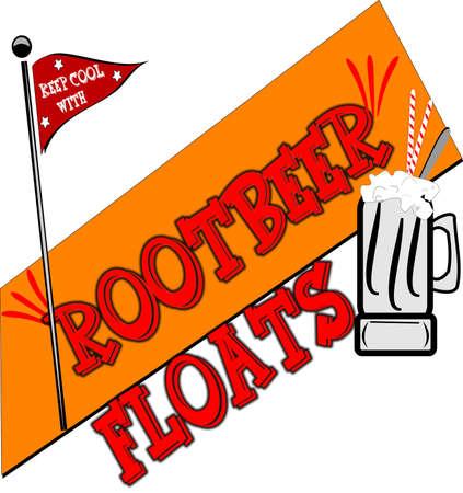 rootbeer flota vector de fondo Ilustración de vector