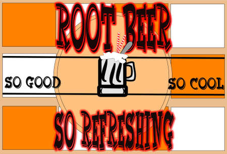 retro root beer float poster board background