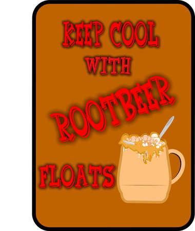 keep it cool root beer  floats background Vector