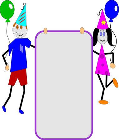 childrens party invitation Illustration