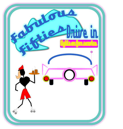 fabulous fifties drive in  Stock Photo - 9952988