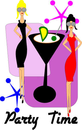 invite to martinis with females