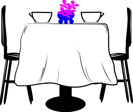 sit back: table for two Illustration