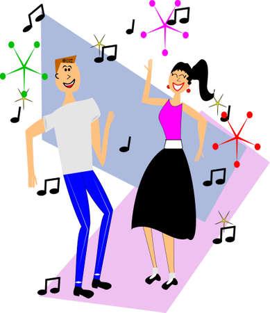 retro tieners dansen