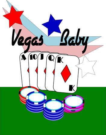 vegas baby Stock Vector - 10130506