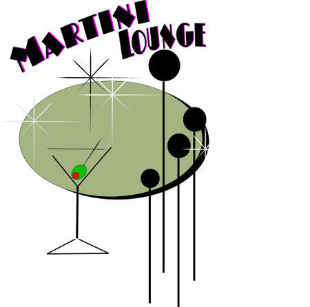 retro martini  Vector