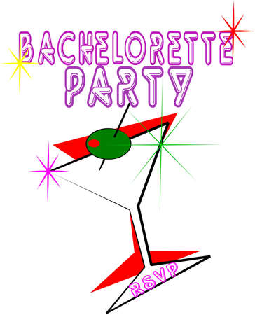 bachelorette party invite Stock Vector - 10181110