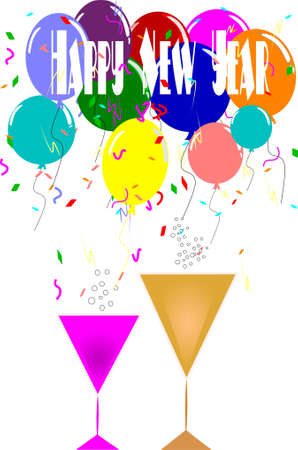 new year announcement  일러스트