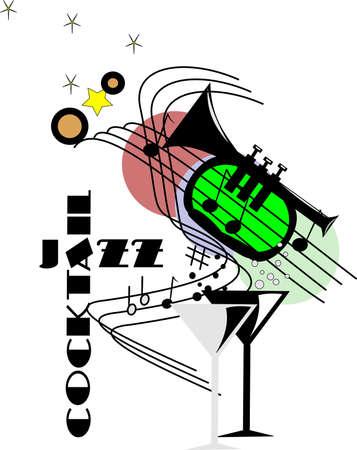 cocktail jazz abstract Illustration