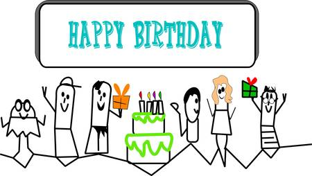 Lil Menschen Geburtstag einladen Standard-Bild - 10394306
