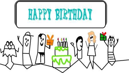 Lil personas cumpleaños invitar Foto de archivo - 10394306