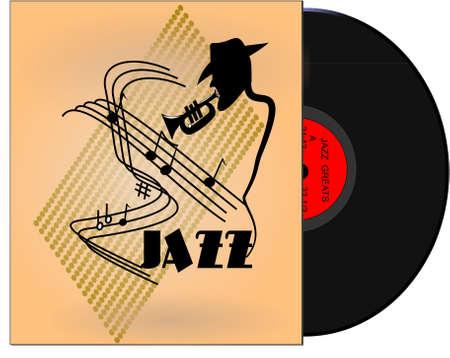 grands du jazz album style rétro Vecteurs